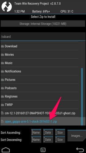 root lg g4 - flash GApps